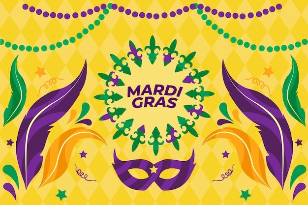 Mardi gras-evenement met maskers en veren
