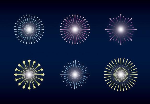 Mardi gras instellen splash lichten
