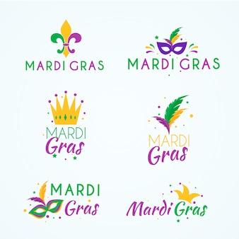 Mardi gras label collectie