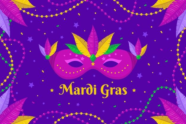 Mardi gras-masker geïllustreerd