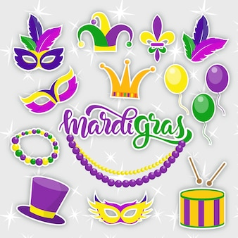 Mardi gras party-elementen