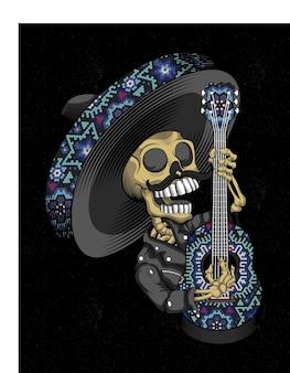 Mariachi schedel mexicaan