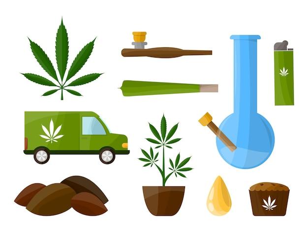 Marihuana instellen.