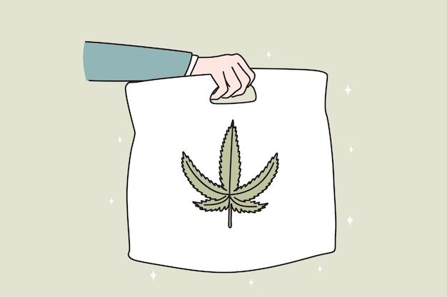 Marihuana leverings- en distributieconcept