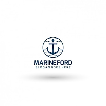 Marine company template logo