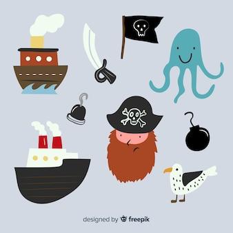 Marine life karakter collectio