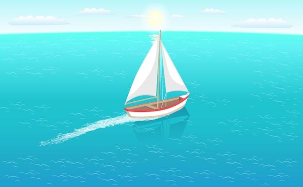 Marine nautical personal fishing ship zeilboot