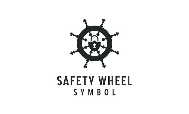 Marine veiligheidsslot logo ontwerp