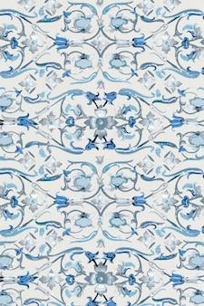 Marineblauw bloemenontwerp als achtergrond