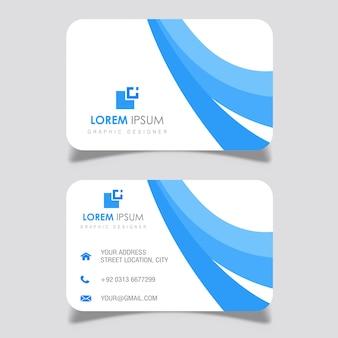 Marineblauw golvende visitekaartje ontwerpen