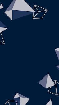 Marineblauw mobiel behang met geometrisch patroon