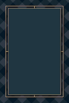 Marineblauw tartan frame