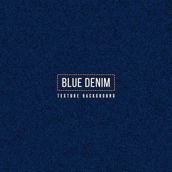 Marineblauwe denimtextuurachtergrond realistisch patroon van de jeansstof