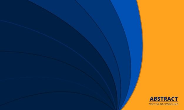 Marineblauwe en gele abstracte achtergrond