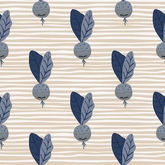 Marineblauwe radush silhouetten eenvoudig naadloos patroon