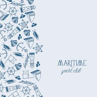 Maritieme yacht club-sjabloon