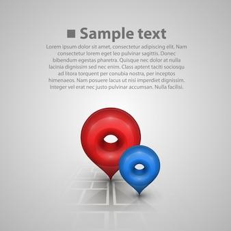 Markeer op de kaartwijzer. vector illustratie