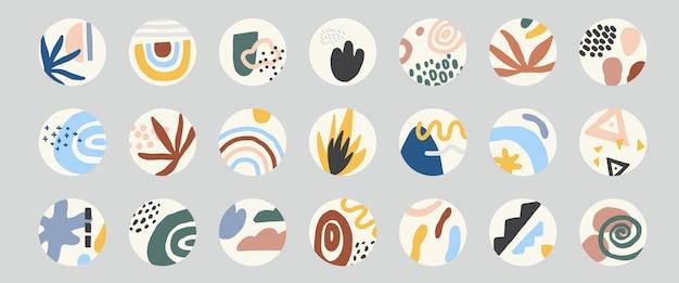 Markeer set cirkelhoezen