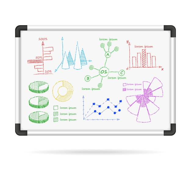 Markeringsbord infographic grafieken