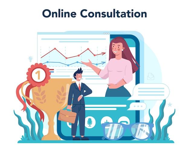 Marketeer online service of platform