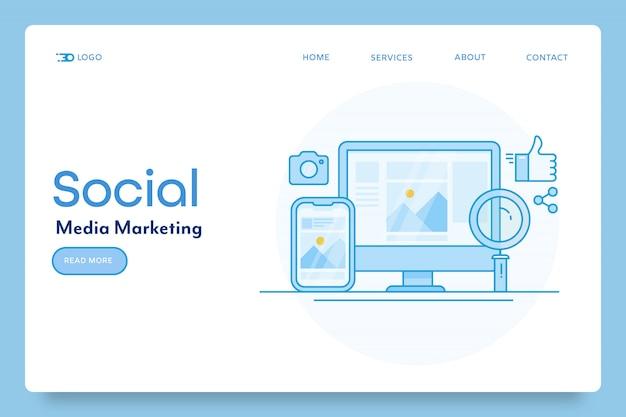 Marketing banner voor sociale media