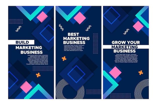 Marketing bedrijf instagram verhalencollectie