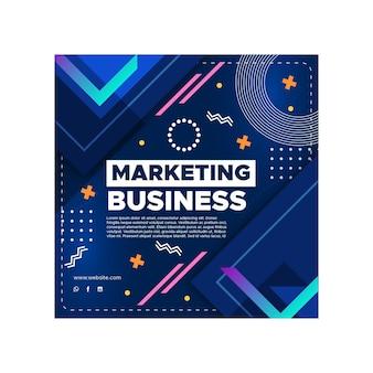 Marketing bedrijf kwadraat flyer sjabloon