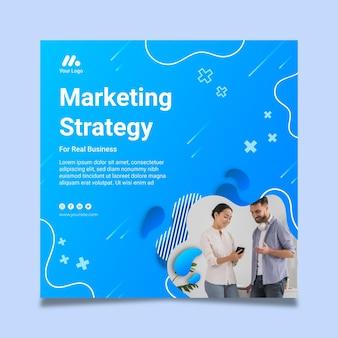 Marketing bedrijf kwadraat flyer-sjabloon