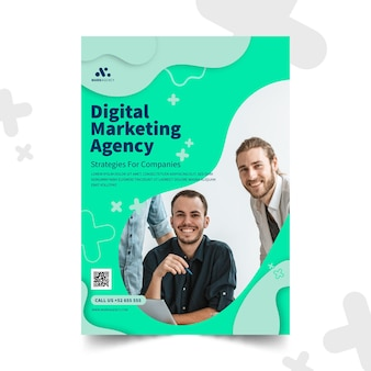 Marketing bedrijf verticale folder sjabloon