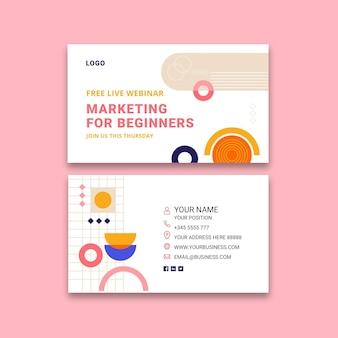 Marketing bedrijfs horizontaal visitekaartje