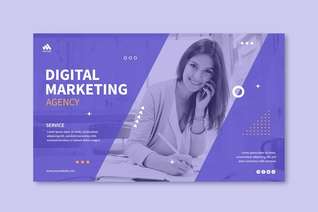 Marketing bedrijfsbanner