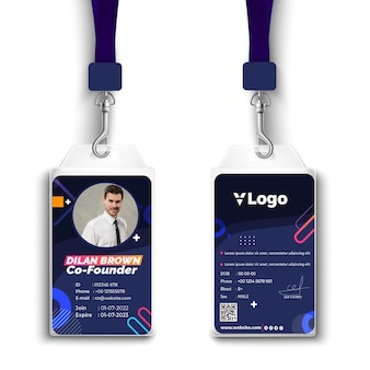 Marketing bedrijfsidentiteitskaart