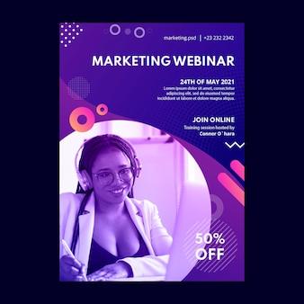 Marketing business flyer-sjabloon