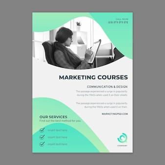 Marketing business flyer verticaal