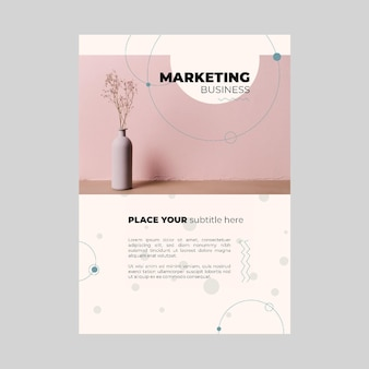 Marketing business poster sjabloon