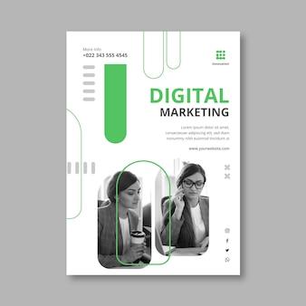 Marketing business verticale flyer-sjabloon
