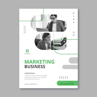 Marketing business verticale postersjabloon