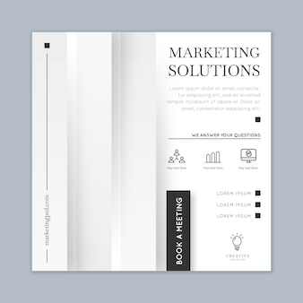 Marketing business vierkante flyer-sjabloon