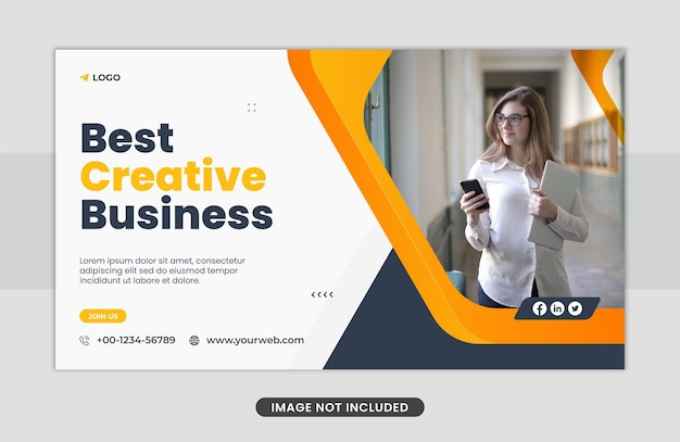 Marketing business webbanner sjabloonontwerp