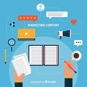 Marketing inhoud concept