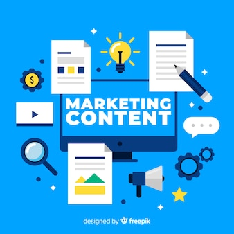 Marketing inhoud concept