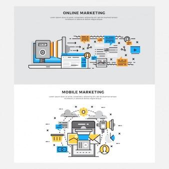 Marketing ontwerpen set