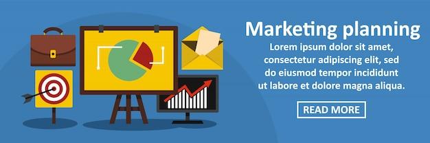 Marketing planning banner horizontaal concept
