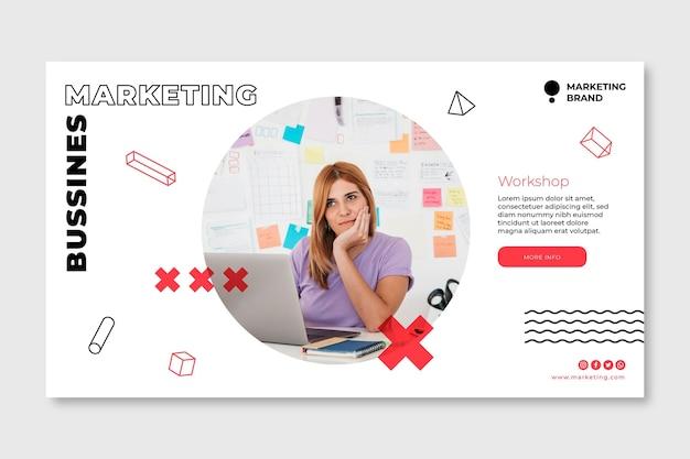 Marketing sjabloon voor spandoek