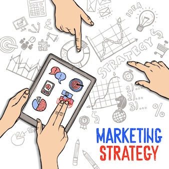 Marketing strategie concept