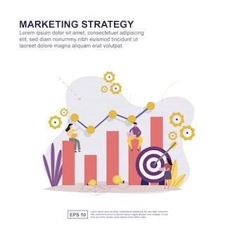 Marketing strategie concept