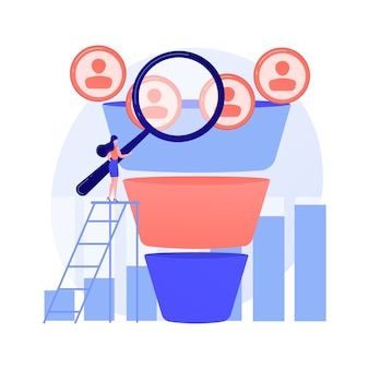 Marketing trechter abstract concept