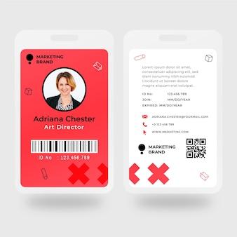 Marketing visitekaartje sjabloon