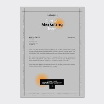 Marketing zakelijke briefhoofdsjabloon