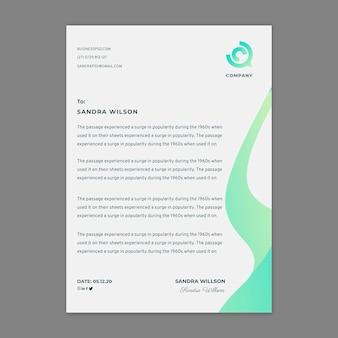 Marketing zakelijke briefpapier sjabloon